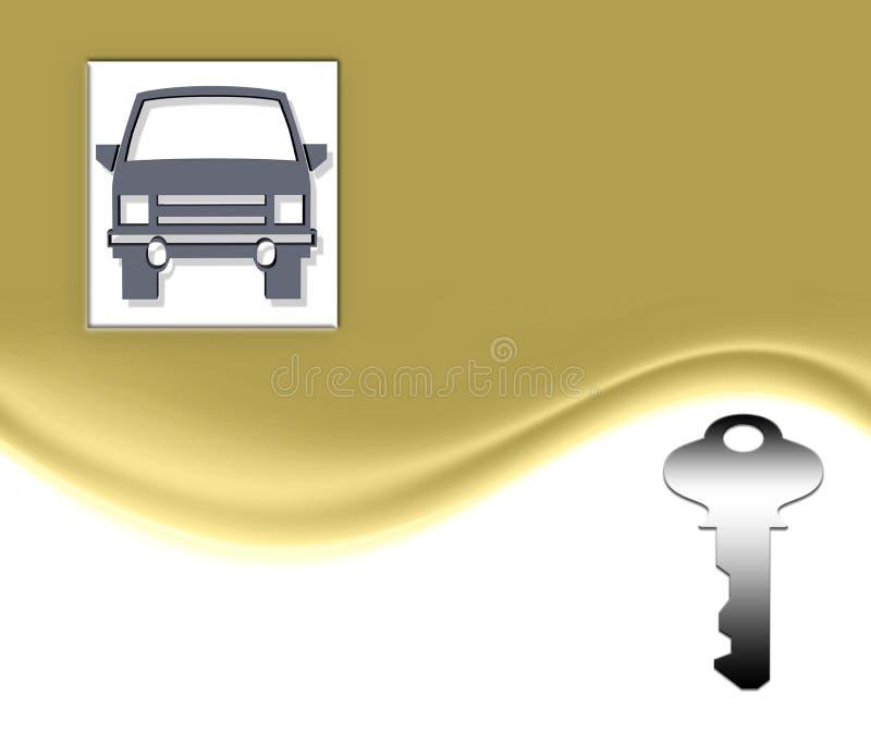 złoto samochodowy klucz royalty ilustracja