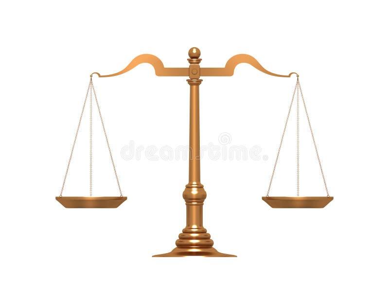 złoto skala royalty ilustracja