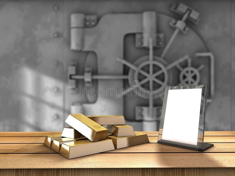 Złoto stół royalty ilustracja