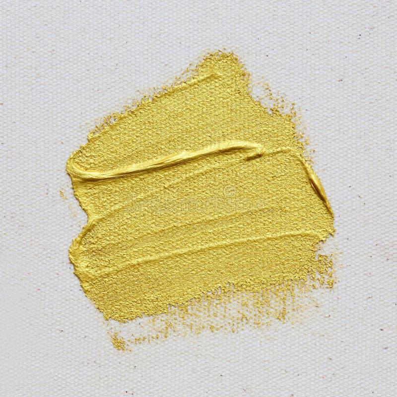 Złoto textured obrazu uderzenie na kanwie fotografia royalty free