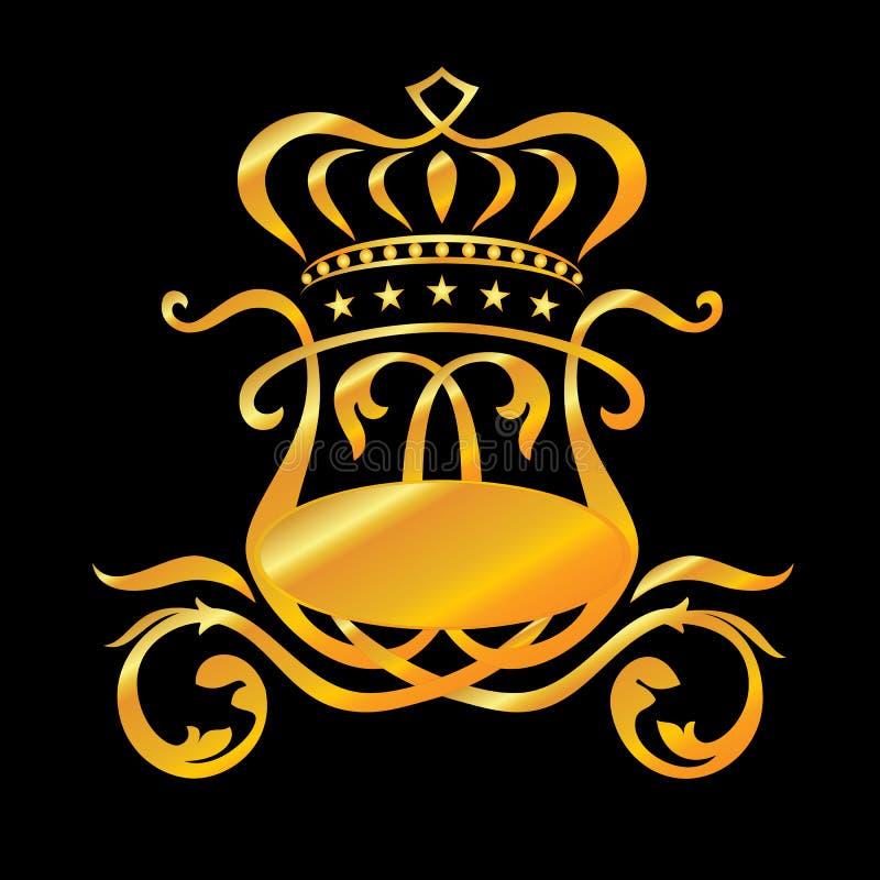 Złoty Ñ  oach ilustracji