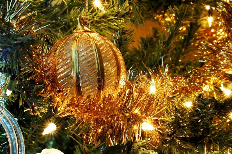 złoty świątecznej ornament obraz royalty free
