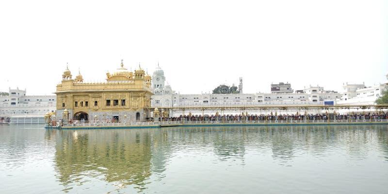 Złoty świątynny Amritsar Pundżab obraz royalty free