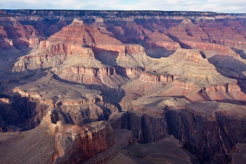 Złoty światło na Grand Canyon fotografia stock
