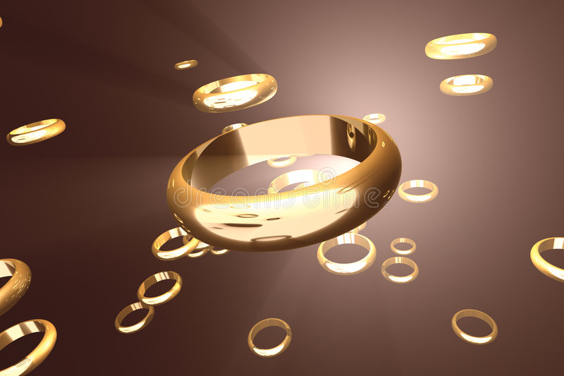 złoty 2 ringu ilustracji