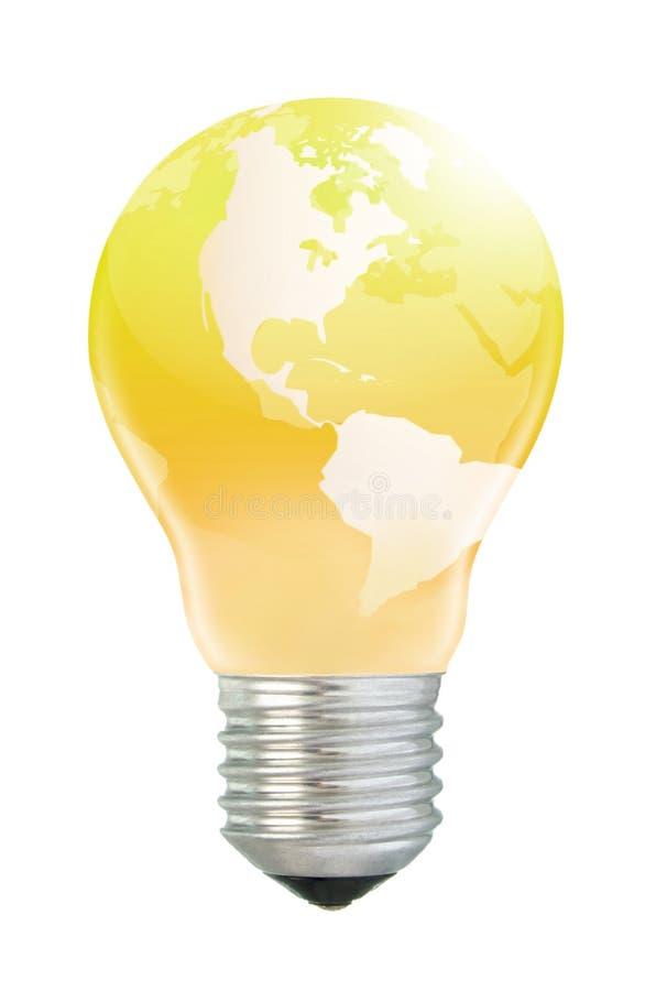 Złoty America w lightbulb obraz stock