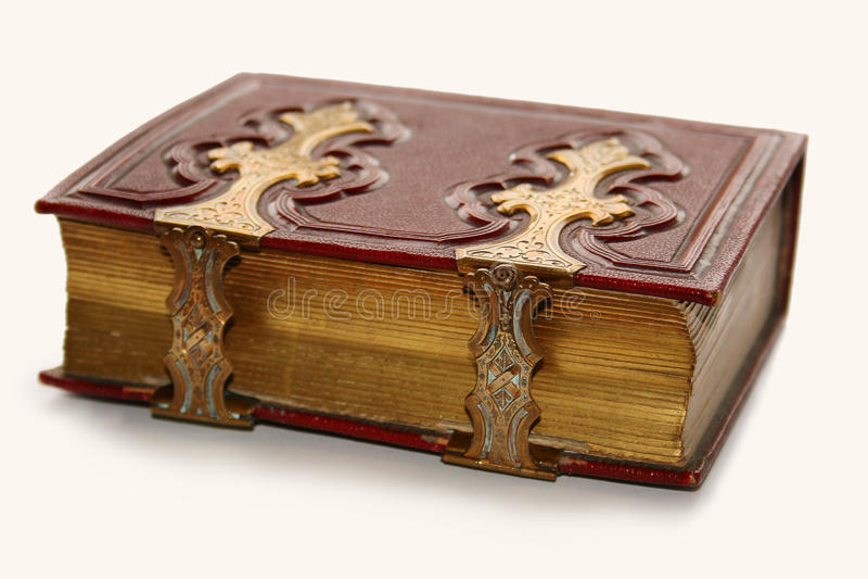 złoty antykwarski książkowy przepięcie fotografia royalty free