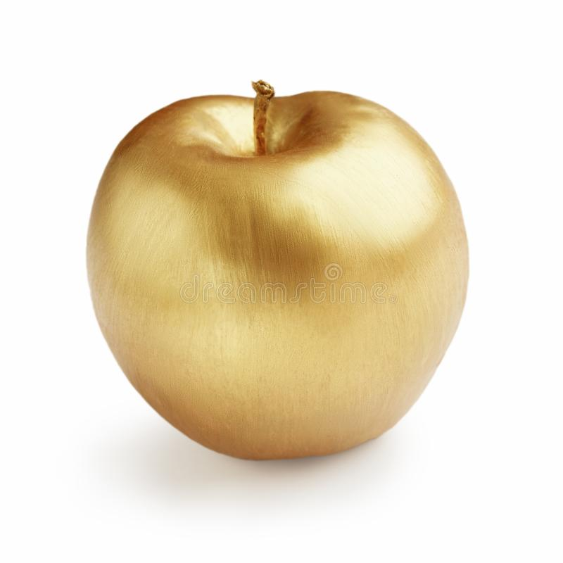 Z?oty Apple niesnaski poj?cie obrazy royalty free