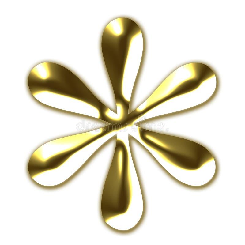 złoty asterysku symbol ilustracja wektor