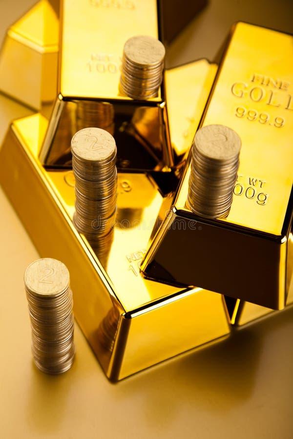Złoty bar, nastrojowy pieniężny pojęcie zdjęcie stock