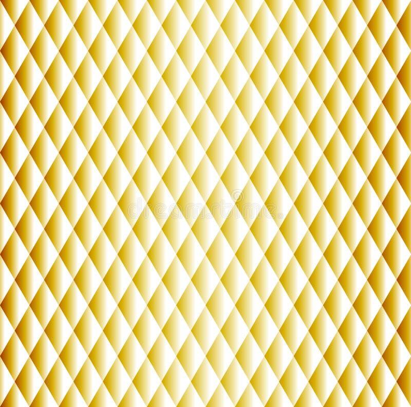 Złoty bezszwowy rhombus wzór royalty ilustracja