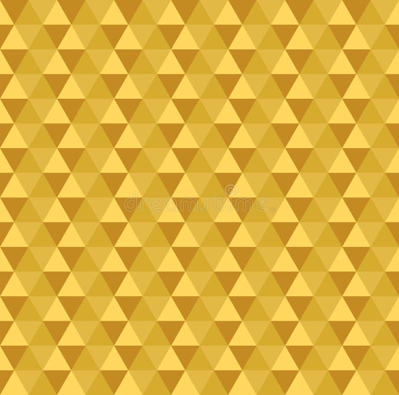 Złoty bezszwowy trójboka wzór royalty ilustracja
