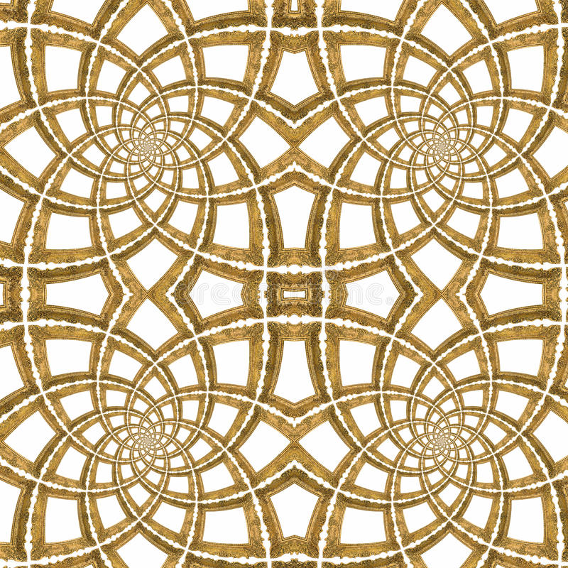 Złoty Bezszwowy Wzór ilustracja wektor