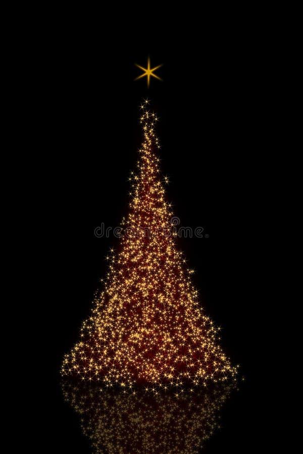 złoty Bożego Narodzenia drzewo ilustracji