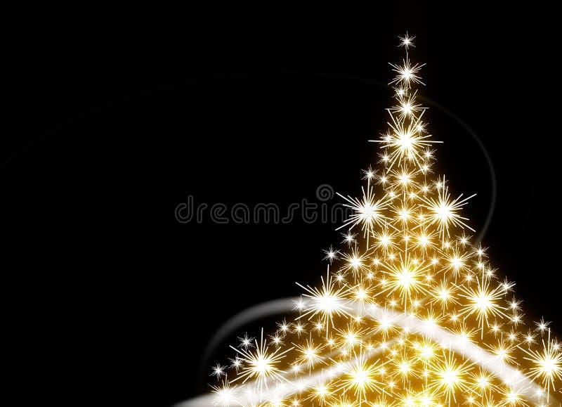 złoty Bożego Narodzenia drzewo royalty ilustracja