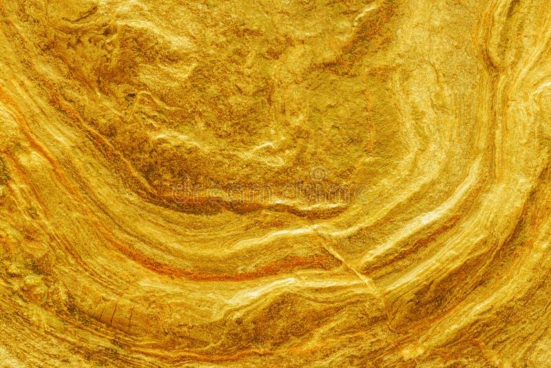 Złoty bryłki surfece tekstury zakończenie up zdjęcia royalty free