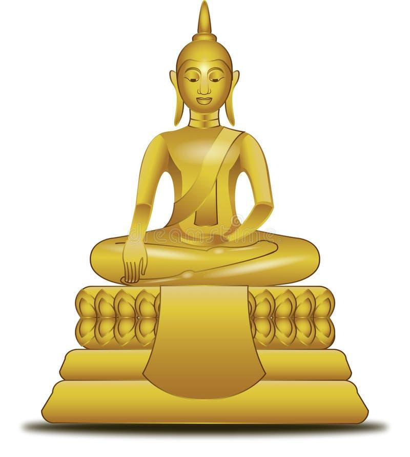 złoty Buddha wizerunek royalty ilustracja