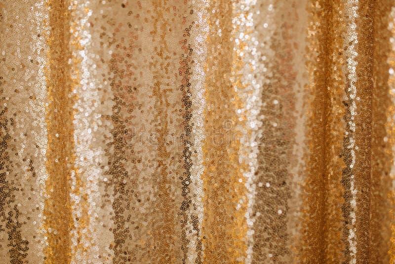 Złoty cekin tekstury tła błyskotliwości wzór obraz stock
