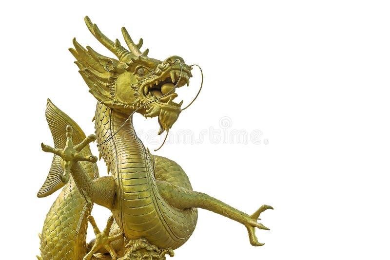 złoty chiński smok obraz stock