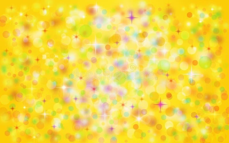 Złoty colourful bożego narodzenia tło royalty ilustracja