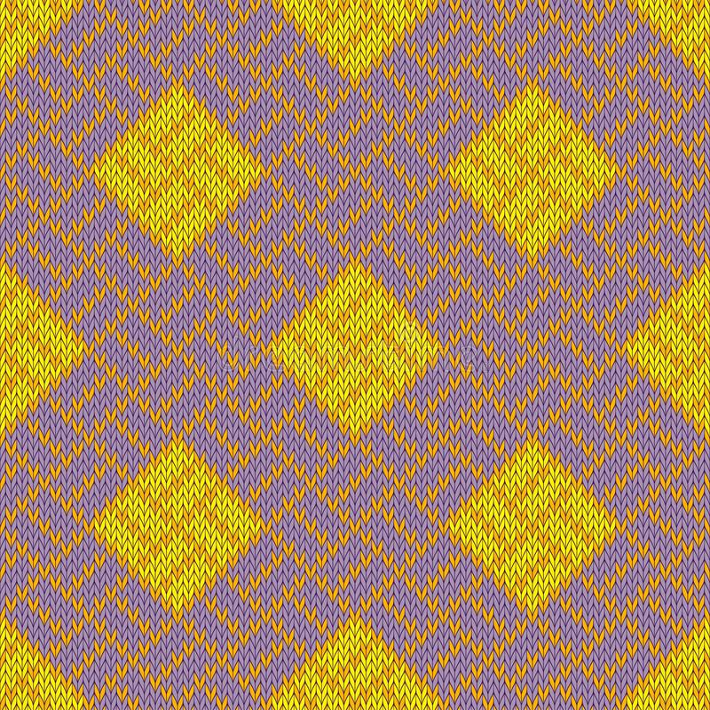 Złoty Craquelure Bezszwowy woolen trykotowy wzór ilustracji