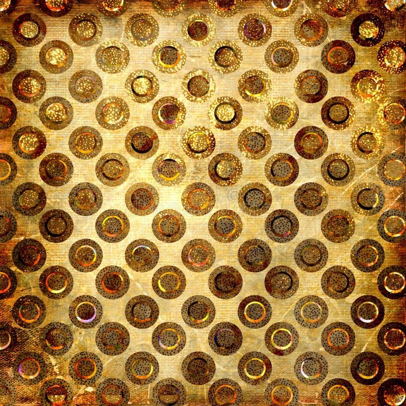 złoty crunch royalty ilustracja