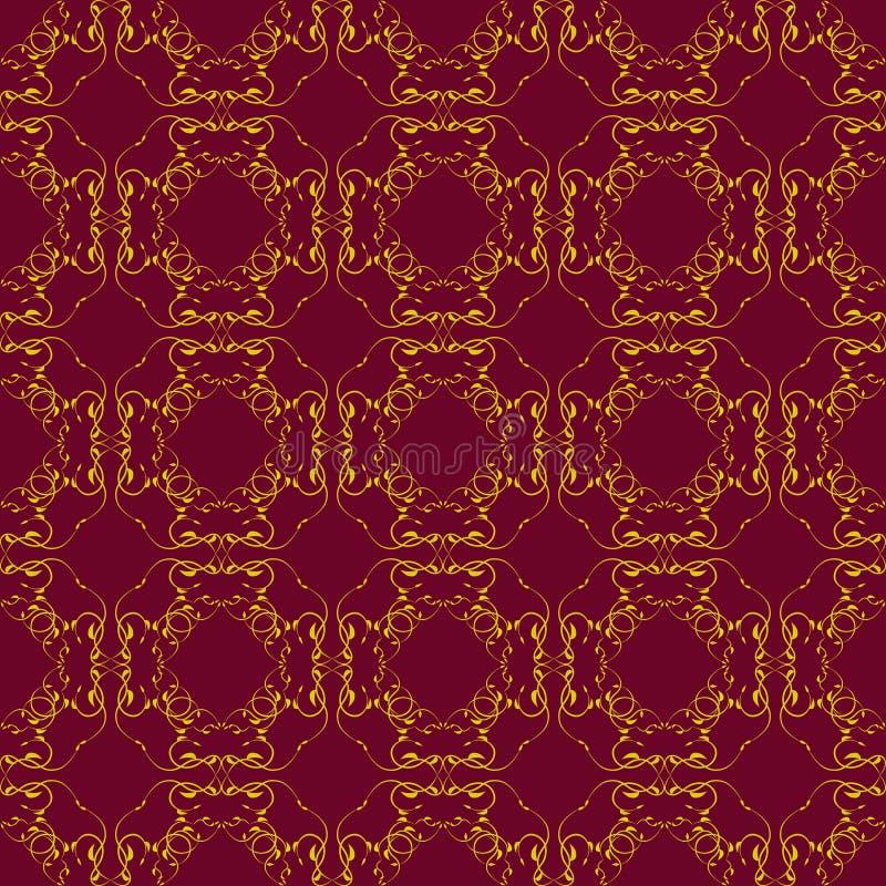 złoty deseniowy bezszwowy obraz royalty free