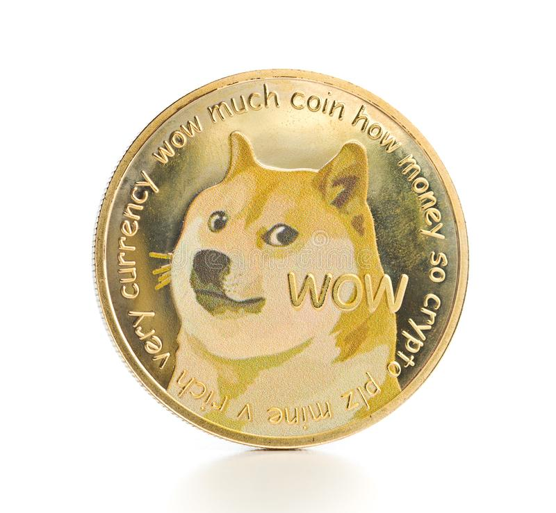 Złoty dogecoin obraz stock