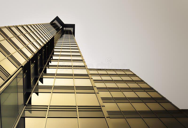 złoty drapacz chmur zdjęcie stock