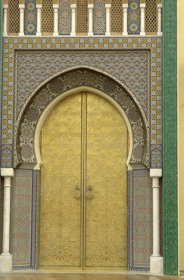 złoty drzwi zdjęcia royalty free