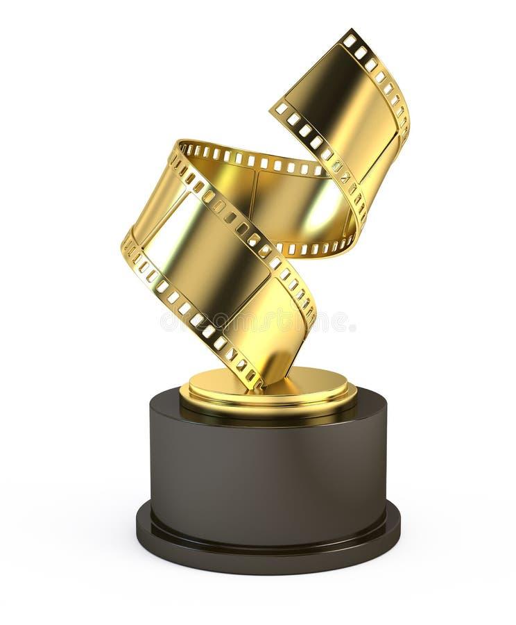 Złoty Ekranowy nagroda film ilustracja wektor
