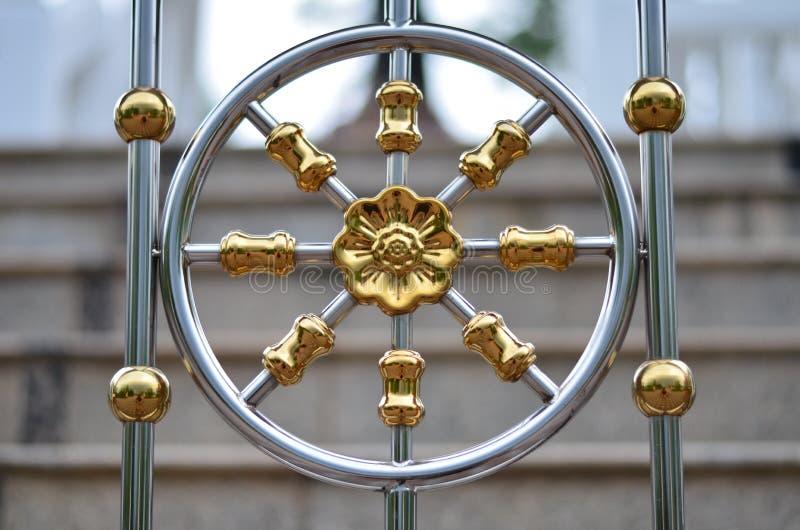 Złoty Żelazny kwiat obraz royalty free