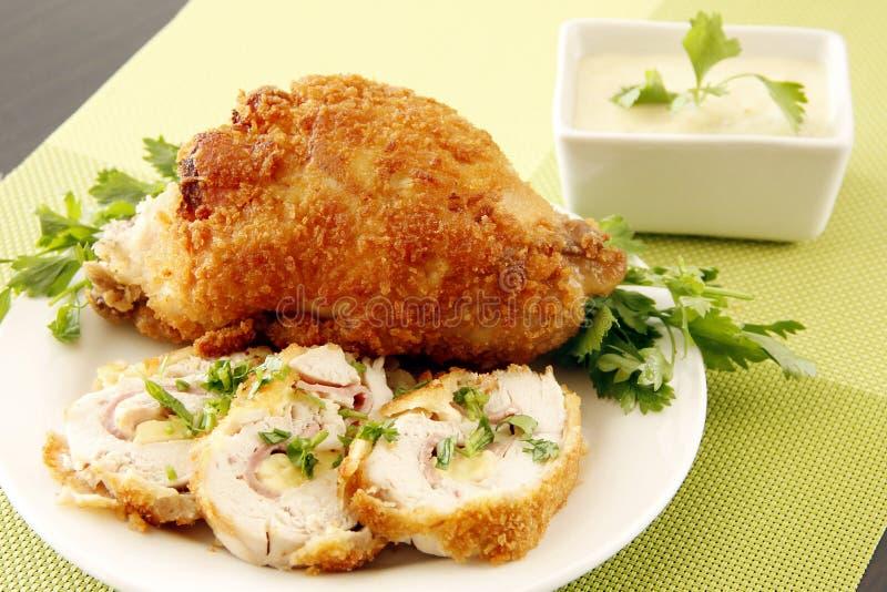 Złoty faszerujący kurczak obrazy stock
