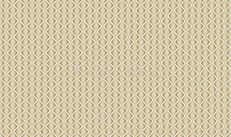 Złoty geometryczny wzór, część 06 royalty ilustracja