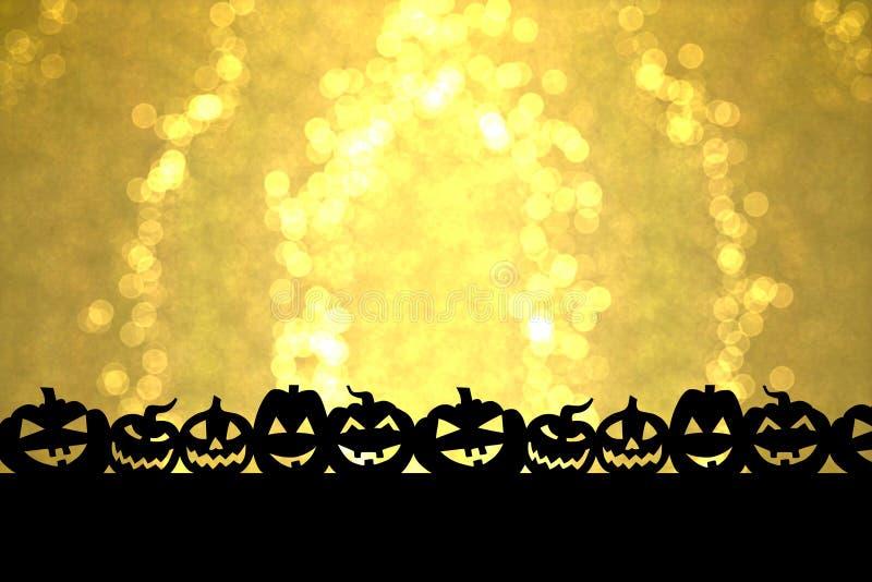 Złoty Halloween obrazy stock