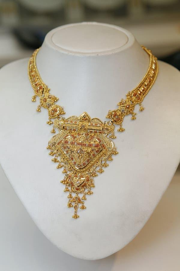 złoty indyjski jewellery obraz stock