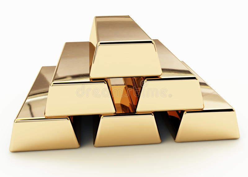złoty ingot obrazy royalty free