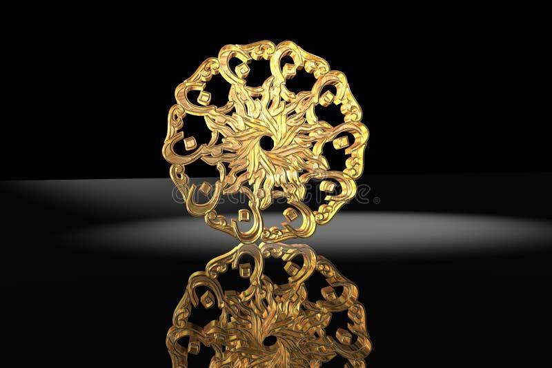 złoty islamskiego symbol modlitwa royalty ilustracja