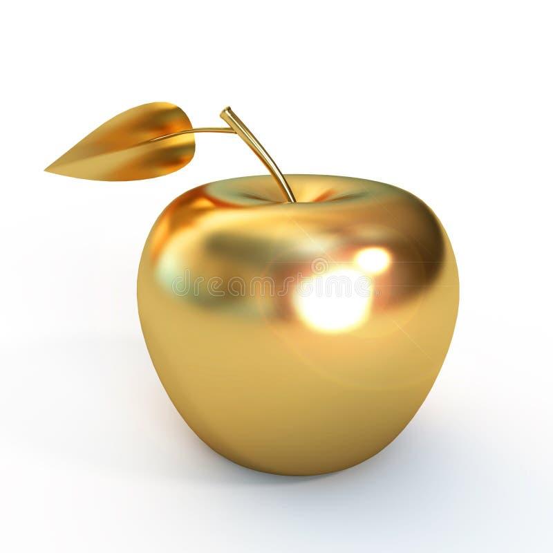 Złoty jabłko ilustracja wektor