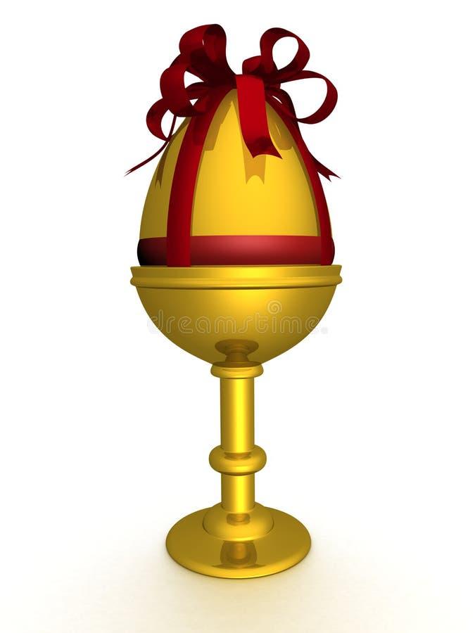złoty jajeczny opakowania ilustracja wektor