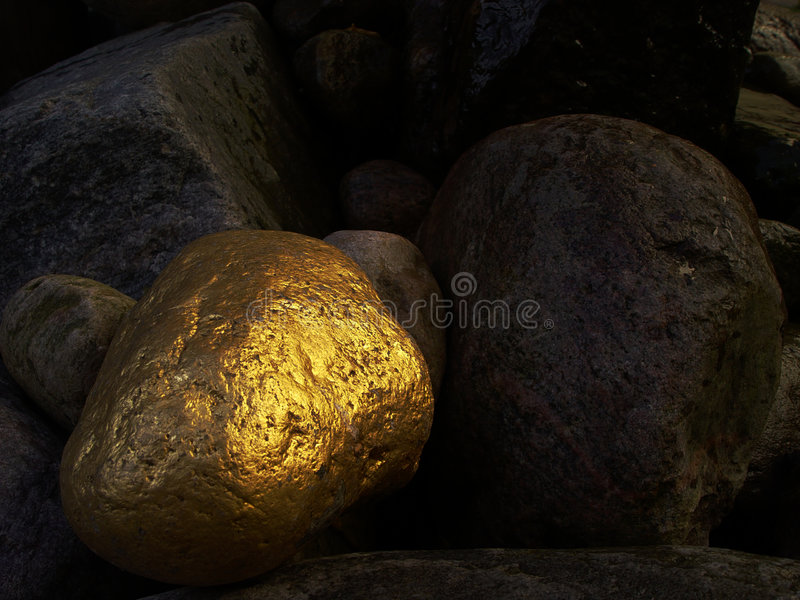 złoty kamień obraz royalty free