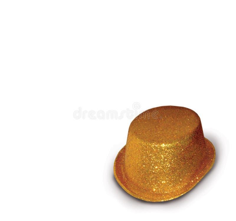 złoty kapelusz obraz stock