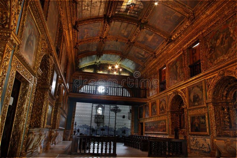 złoty kaplicy recife obraz royalty free