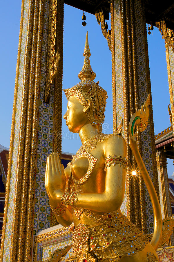 Złoty Kinnari zdjęcie royalty free
