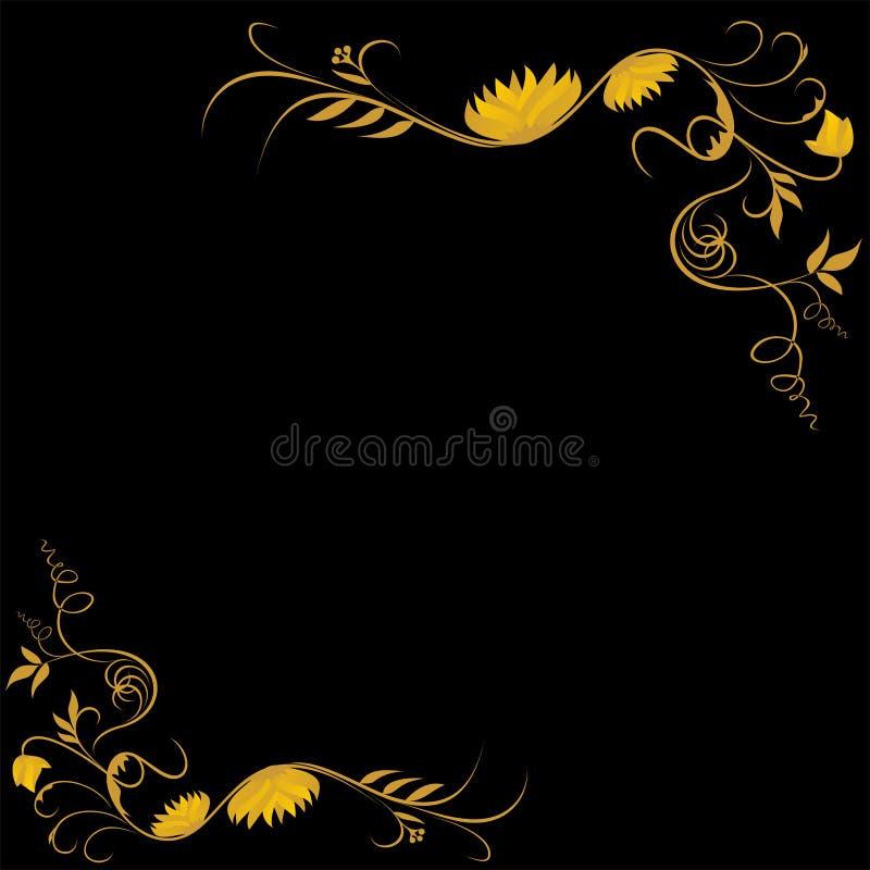 złoty klasyczny motyw ilustracji