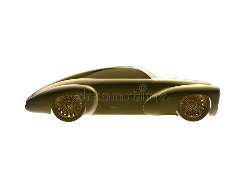 Złoty klasyczny samochód ilustracja wektor