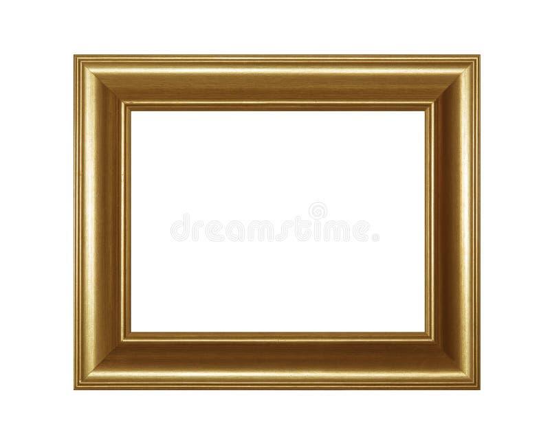 Złoty klasyka stylu obrazek lub fotografii rama obrazy stock