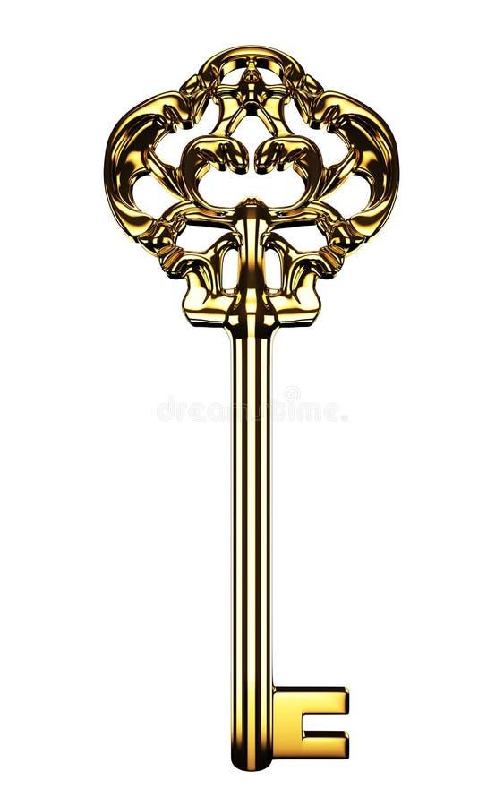 złoty klucz ilustracji