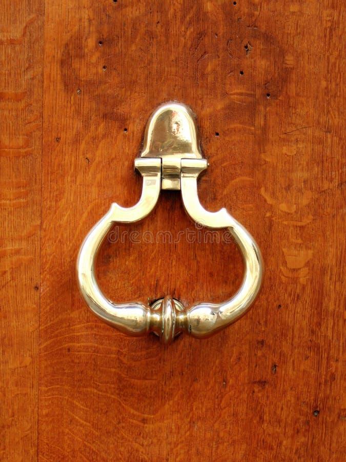 złoty knocker drzwi fotografia royalty free