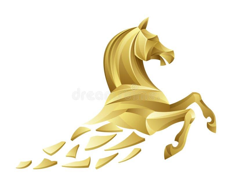 Złoty koń royalty ilustracja